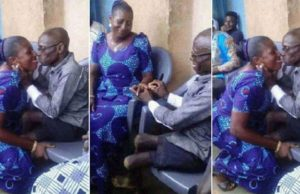 physically challenged man engages lady