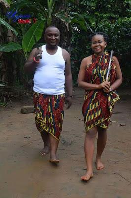 nigerian couple's village inspired pre-wedding photos