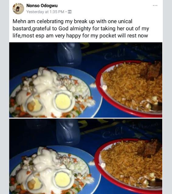 Nigerian Guy Celebrates Breakup