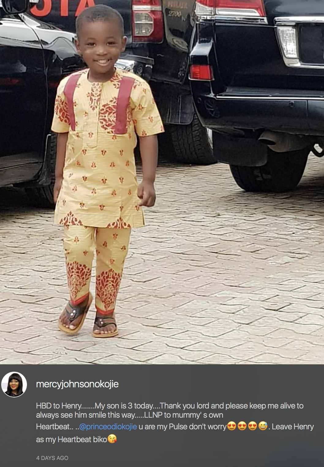Nollywood actress, Mercy Johnson has taken time to share a glaring evidence of her husband's jealous streak.