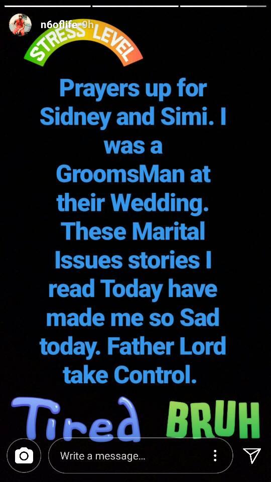 OAP N6 Reacts Dr Sid's Marital Crisis