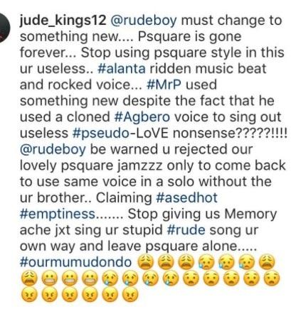 Paul Okoye replies fan