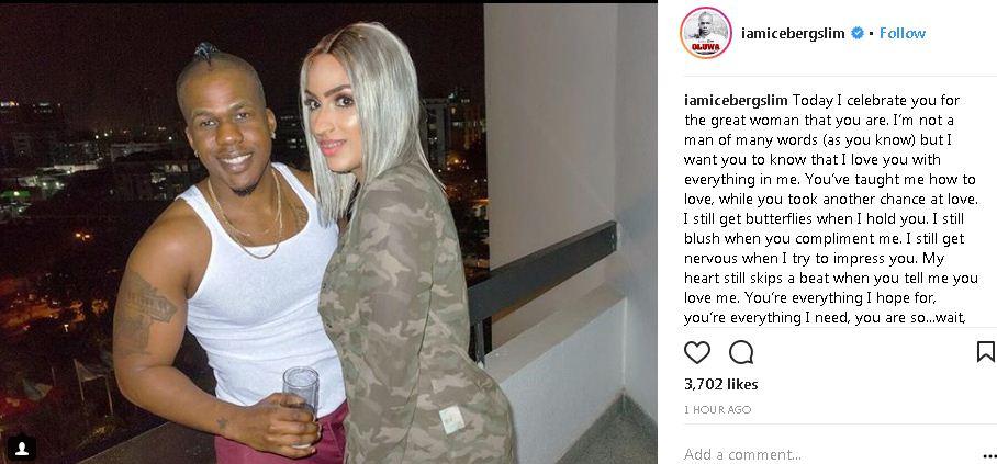 Iceberg Slim celebrates girlfriend