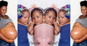 Nigerian lady welcomes twins