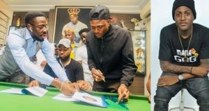 davido signs idowest