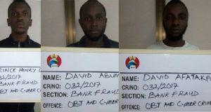 Three internet fraudsters