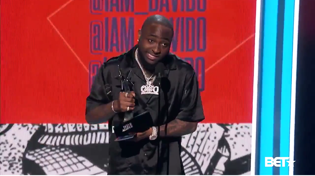 Davido wins Best International Act Award