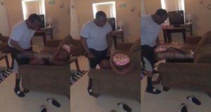Man beating wife