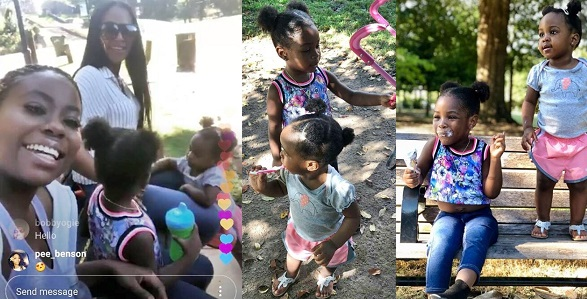 Image result for Davido reacts as his two baby mamas organize play date for their daughters (Photos)