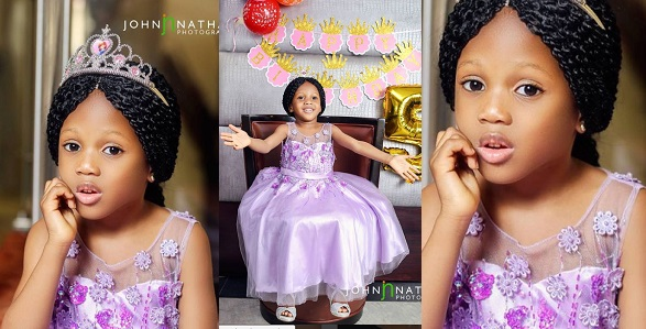 Image result for Adorable new photos of Elo Ogidi, the 5-year-old girl who was abducted from church and recently found in Edo
