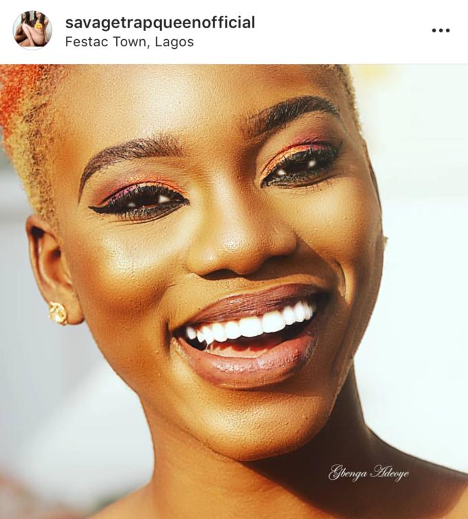 Nigerian pornstar Savage Trap Queen, during her