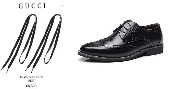 gucci shoelace $6500
