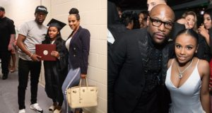 Floyd Mayweather celebrates daughter