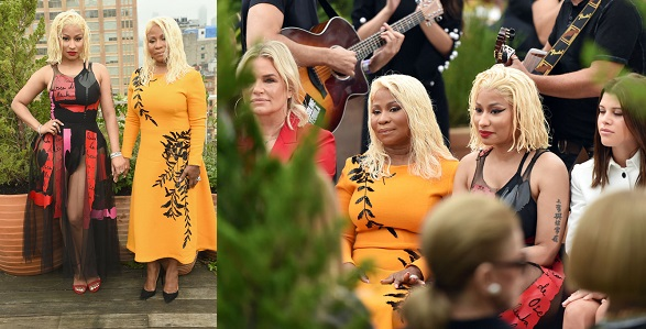 Image result for Nicki Minaj & mother, Carol twinning for Oscar De La Renta Show at NYFW 2018 (Photos)