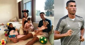 Cristiano Ronaldo spends quality time