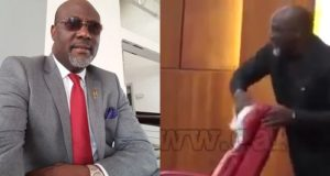 Dino Melaye using handkerchief