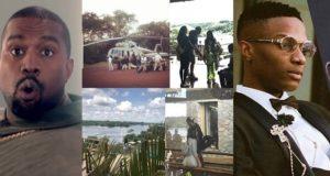 Kanye West arrives Uganda