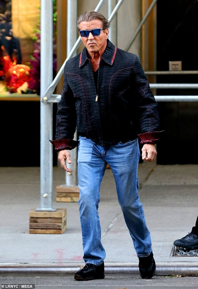 Sylvester Stallone takes wife