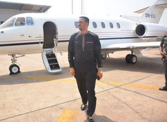 Pastor Chris Okafor's private jet