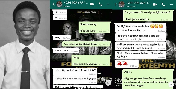 Young Nigerian guy shares chat