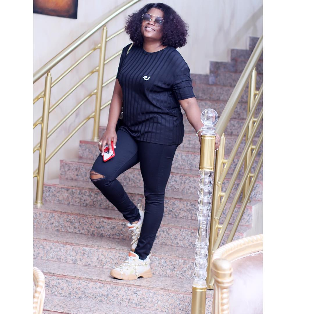 Funke Akindele Bello shows off her post-baby body