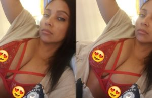 Lola Omotayo Okoye shares photo of herself in a red bra