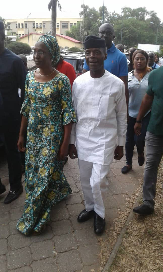 Osinbajo and wife cast their votes