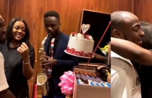 Davido Gives Chioma A Chilling Surprise On Valentine's Day