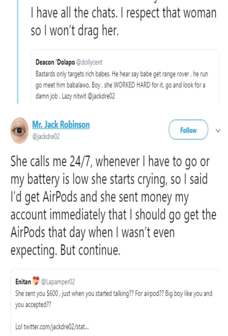 Nigerian woman accuses her boyfriend of using jazz on her