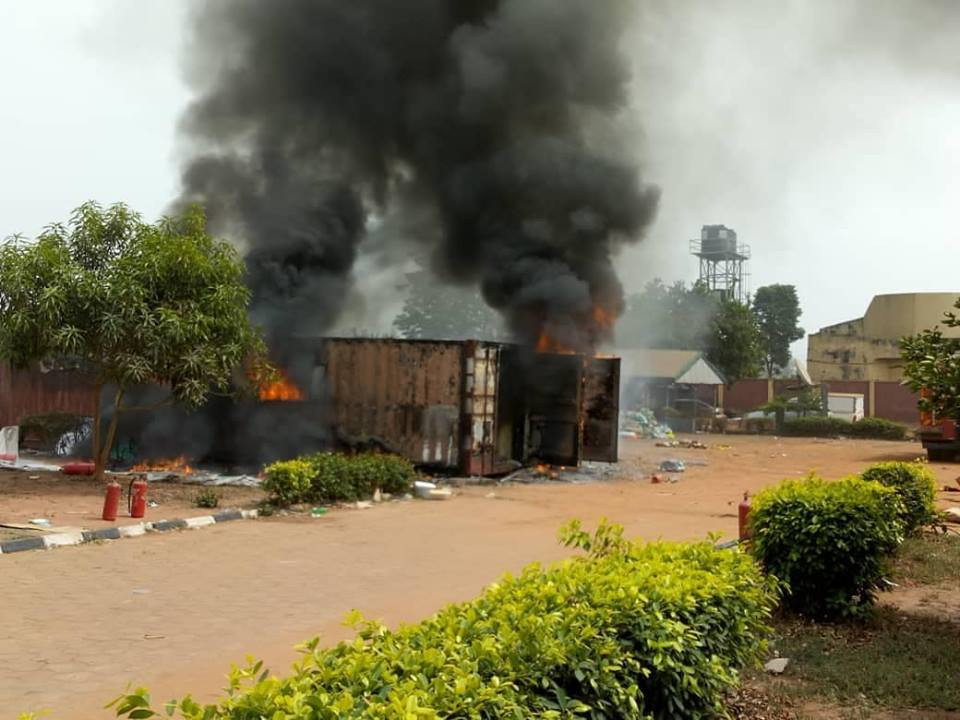 Fire guts containers carrying card readers