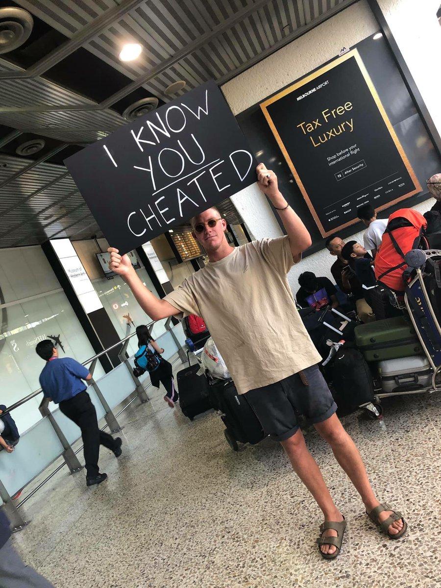 man welcomed cheating girlfriend
