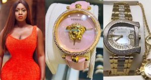Princess Shyngle shows off two expensive wrist watches