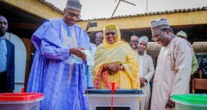 President Buhari And Wife Vote In Daura