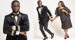 Funke Akindele celebrates JJC Skillz on his birthday