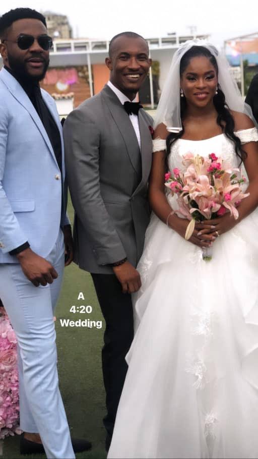 Gideon Okeke White Wedding