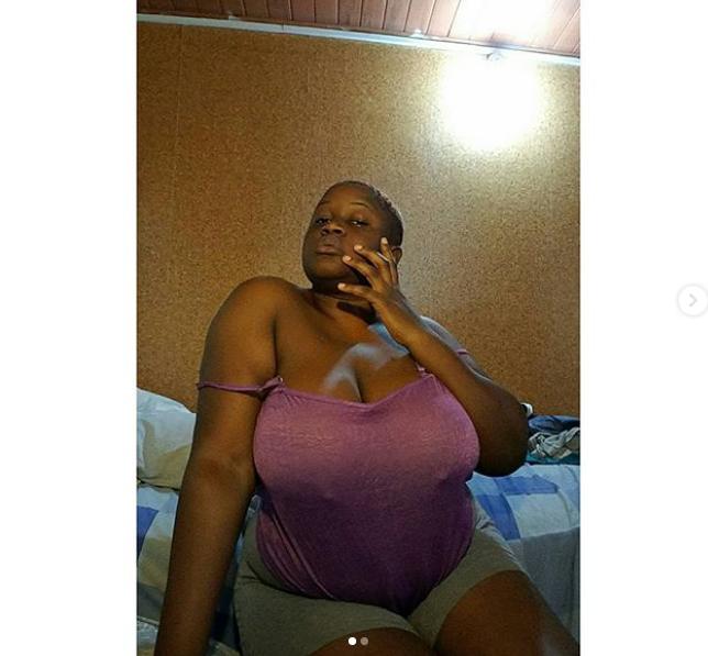Busty Ghanaian model