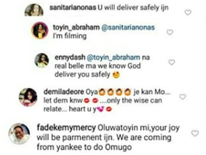 Toyin Abraham replies fans who insist she is pregnant