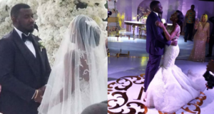 John Dumelo white wedding