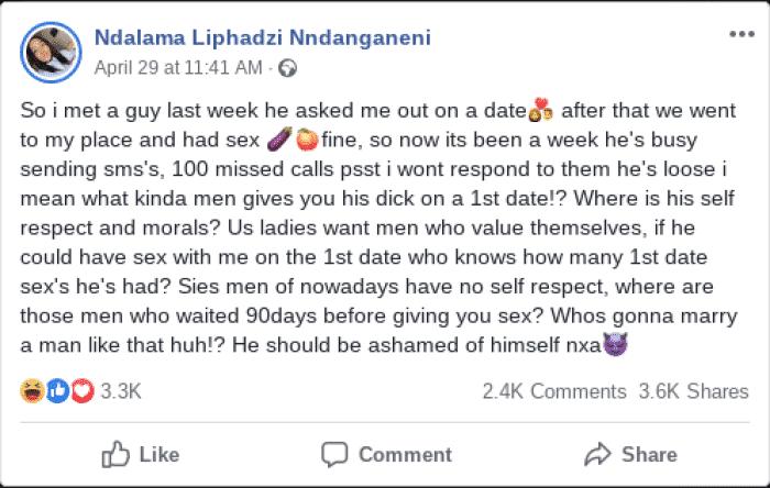 SA Lady brags