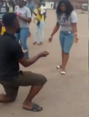 Nigerian guy beats girlfriend