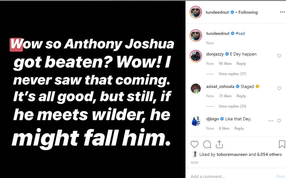 Nigerian celebrities reacts