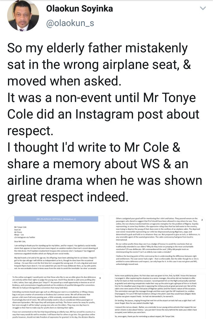 Prof. Wole Soyinka's son