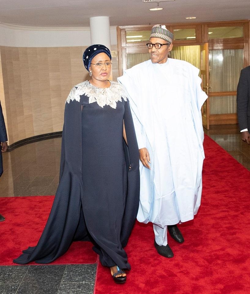 President Buhari and wife