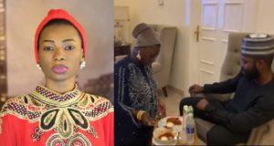 Jaruma kneels serve husband