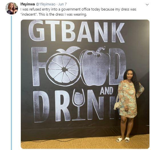 Nigerian lady denied entry