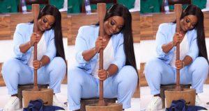 Jackie Appiah pounds Fufu