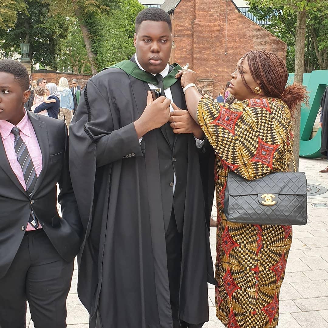 Dele Momodus son graduates