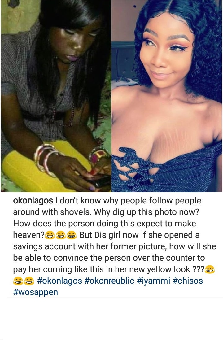 Comedian Okon reacts