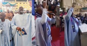 Senator Dino Melaye leads worship