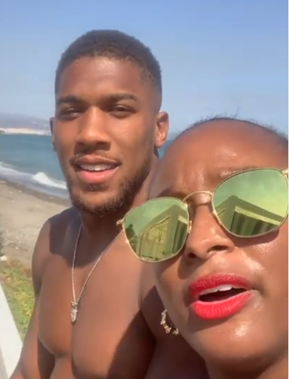 DJ Cuppy and Anthony Joshua vacation in Spain (video) 1